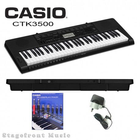 CASIO CTK-3500 KEYBOARD WITH PLUG & PLAY PACK