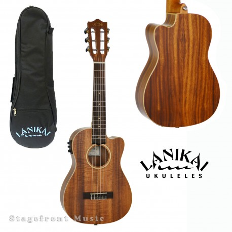 LANIKAI ACACIA SERIES 6-STRING ACOUSTIC/ELECTRIC UKULELE SATIN FINISH