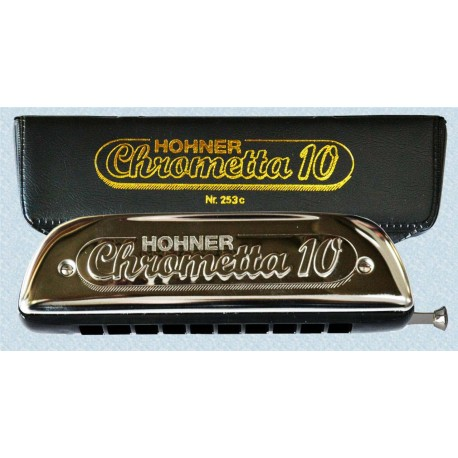 HOHNER CHROMETTA SERIES HARMONICA CHROMETTA 10 253/40/3