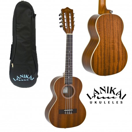 LANIKAI LMA8T MAHOGANY SERIES 8-STRING UKULELE w/ LANIKAI CARRY BAG