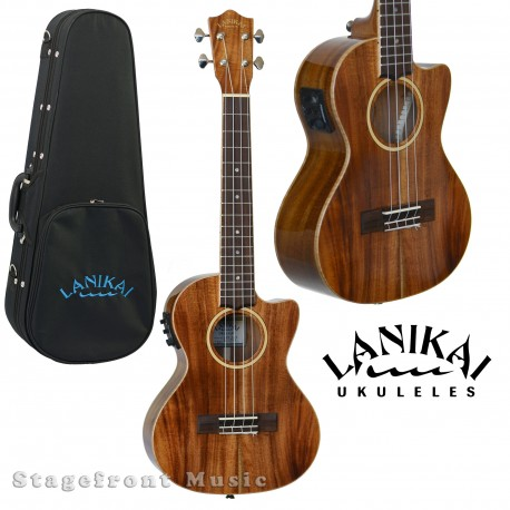 LANIKAI LMAS MAHOGANY SERIES SOPRANO UKULELE IN SATIN FINISH w/LANIKAI BAG