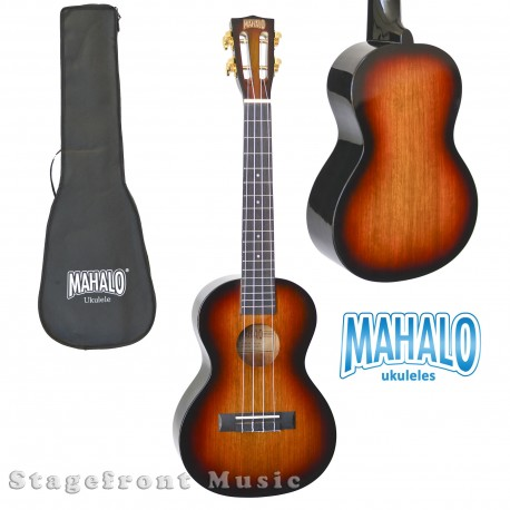 MAHALO MJ13TS SOPRANO UKULELE JAVA SERIES SUNBURST W/ AQUILA STRINGS AND CARRY BAG