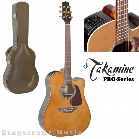 TAKAMINE P5DCWB PRO SERIES 5 ACOUSTIC /ELECTRIC GUITAR. CUTAWAY IN WHISKEY BROWN
