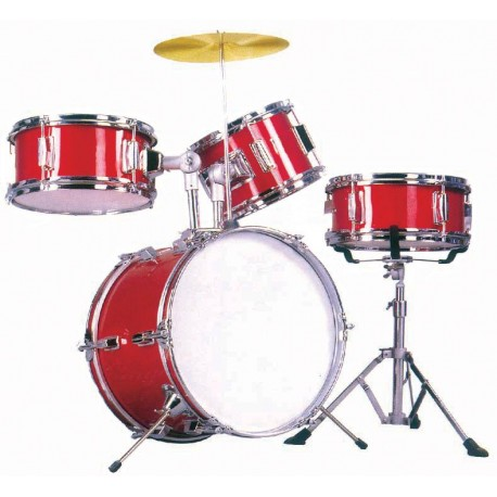 JUNIOR DRUMKIT TXJ4WR DXP 14 INCH BASS DRUM 4 PIECE DRUM KIT- WINE RED