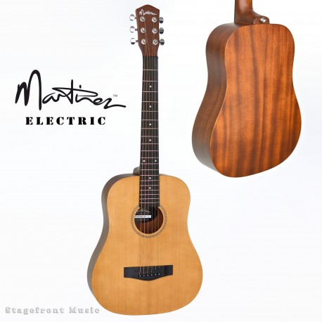 MARTINEZ CEDAR TOP MINI BABE TRAVELLER ACOUSTIC STEEL STRING GUITAR. MZ-BT1C-NST