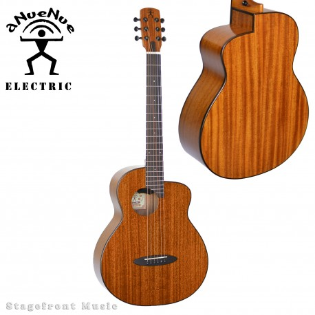 ANUENUE FEATHER BIRD SOLID MAHOGANY AFRICAN TOP ACOUSTIC/ELECTRIC GUITAR M20EF