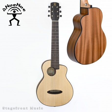ANUENUE FEATHER BIRD ACOUSTIC/ELECTRIC MINI SOLID SPRUCE TOP CLASSICAL GUITAR