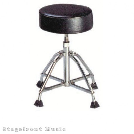DRUM STOOL THRONE 4 CHROME LEGS. VERY STABLE HEAVY DUTY. HEIGHT ADJUSTABLE 50cm T0 58cm