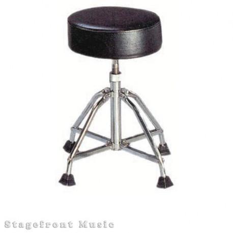 DRUM STOOL THRONE 4 CHROME LEGS. VERY STABLE HEAVY DUTY. HEIGHT ADJUSTABLE 50cm T0 58cm