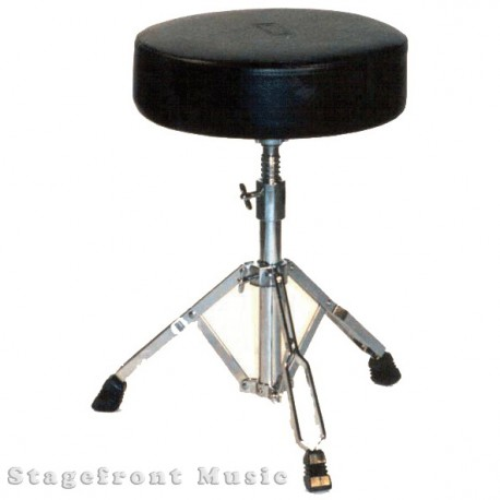 "DRUM STOOL HEAVY DUTY WELL PADDED ""SADDLE TYPE"" SEAT WITH PADDED BACK SUPPORT"