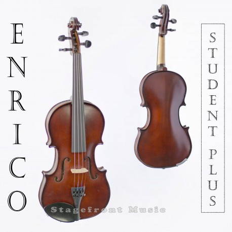 ENRICO STUDENT PLUS VIOLIN OUTFIT 1/2  SIZE. SOLID SPRUCE & MAPLE.