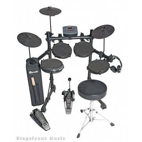 D TRONIC EDQ2P 5 PIECE ELECTRONIC DRUM KIT PACKAGE.