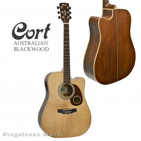 CORT MR710F-BW SOLID SPRUCE TOP ACOUSTIC/ELECTRIC GUITAR. AUSTRALIAN BLACKWOOD BACK & SIDES