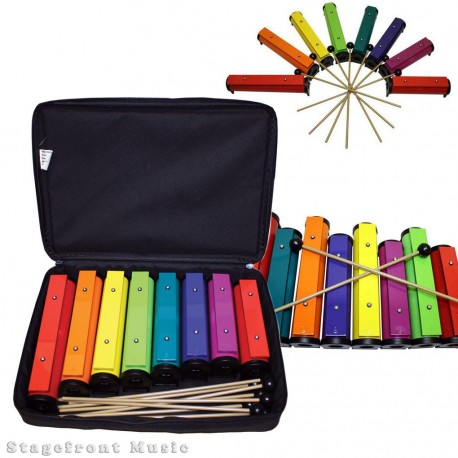 CHROMA NOTES 8 NOTE TUBE RESONATOR BELL SET WITH 8 MALLETS & CARRY CASE - CN2125