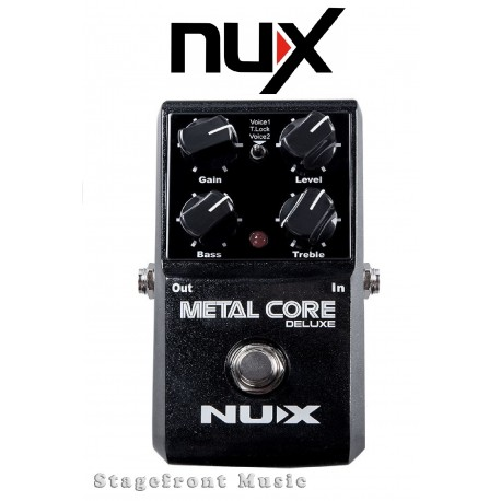 NUX METAL CORE DELUXE DISTORTION EFFECTS PEDAL WITH NOISE GATE