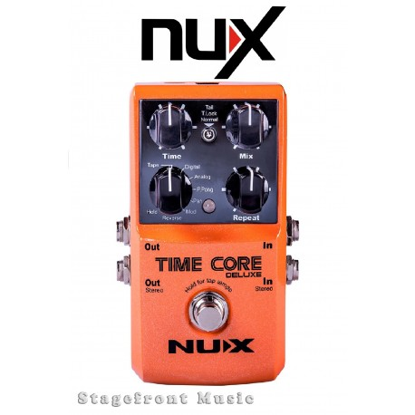 Nu-X NUX TIME CORE DELUXE DELAY EFFECTS PEDAL 7 DELAY MODES