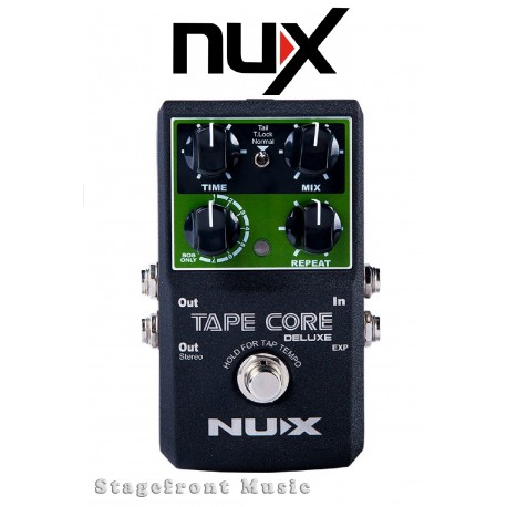NUX TAPE CORE DELUXE TAPE ECHO EFFECTS PEDAL 7 DELAY MODES