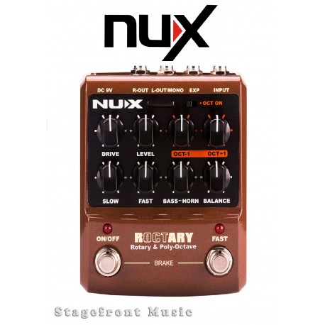 NUX ROCTARY SPEAKER SIMULATOR & POLYPHONIC OCTAVE PEDAL