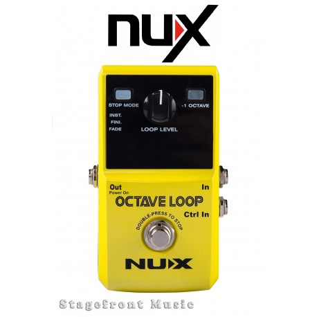 NUX OCTAVE LOOP GUITAR LOOPER EFFECTS PEDAL CREATE A BASS LINE