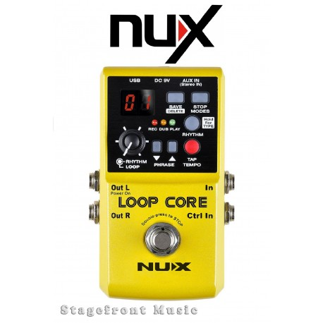 NUX LOOP CORE GUITAR LOOPER EFFECTS PEDAL 6 HOURS RECORD TIME