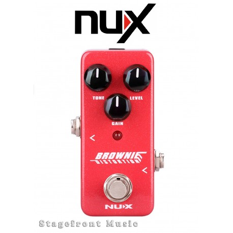 NUX MINI CORE SERIES BROWNIE DISTORTION MINI EFFECTS PEDAL 70's TONE