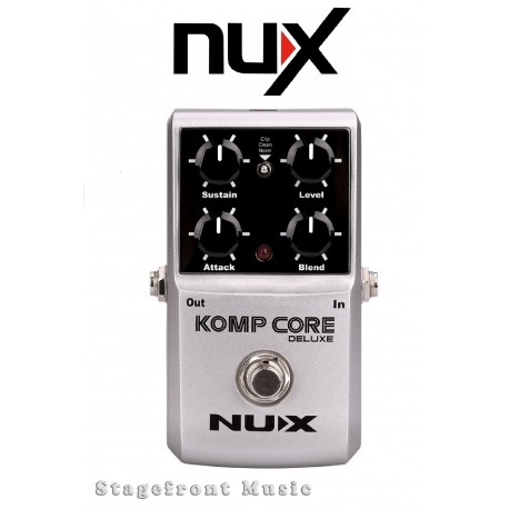 NUX KOMP CORE DELUXE STOMPBOX MULTI FUNCTION ANALOG COMPRESSOR EFFECT PEDAL