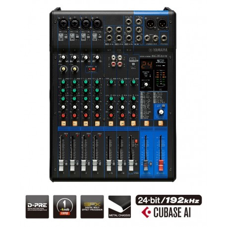 YAMAHA MG10XUF 10 CHANNEL MIXING CONSOLE WITH EFFECTS & USB INCLUDES CUBASE SOFTWARE