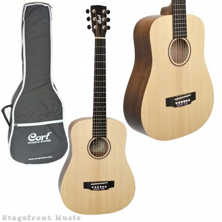 CORT EARTH MINI SOLID SPRUCE TOP ACOUSTIC STEEL STRING TRAVELLER GUITAR