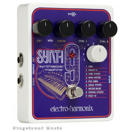 ELECTRO-HARMONIX EHX SYNTH9 SYNTHESIZER MACHINE EFFECTS PEDAL SYNTH 9