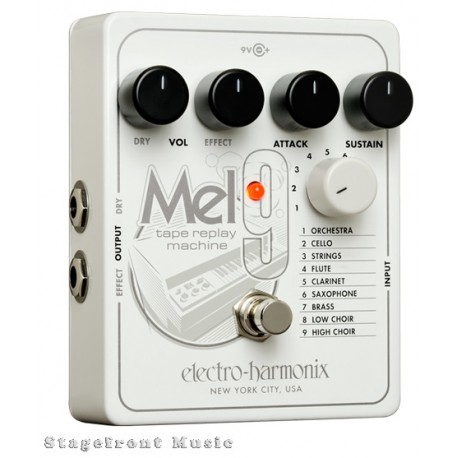 ELECTRO-HARMONIX EHX MEL9 TAPE REPLAY MACHINE GUITAR EFFECTS PEDAL