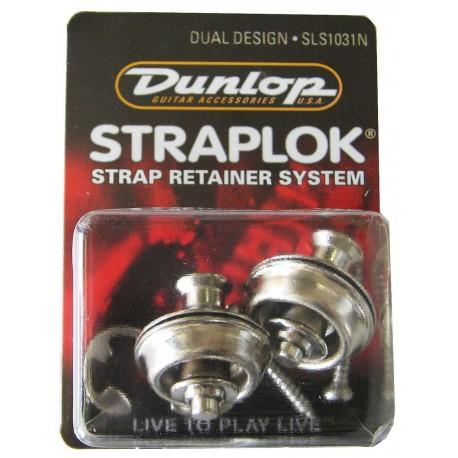 JIM DUNLOP STRAPLOCK - DUAL DESIGN STRAP LOCK. Nickel J103N