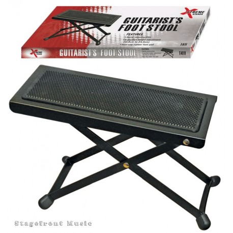 XTREME GUITARIST'S FOOTSTOOL FOR GUITAR / FOOT STOOL / SOLID BLACK METAL FRAME