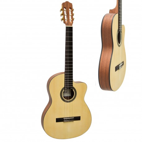 CORDOBA FUSION 12 NATURAL NYLON ELEC/ACOUSTIC GUITAR SOLID CEDAR TOP