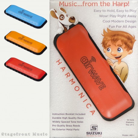 SUZUKI AIRWAVE HARMONICA SUITS KIDS PLAY SIMPLY BY BREATHING IN AND OUT OF IT