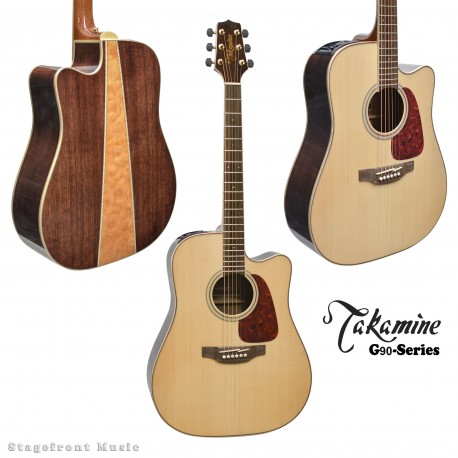 TAKAMINE G90 SERIES DREADNOUGHT ACOUSTIC /ELECTRIC GUITAR GLOSS FINISH GD93CE