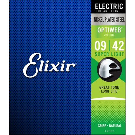 ELIXIR OPTIWEB ELECTRIC GUITAR STRINGS SELECT GAUGE