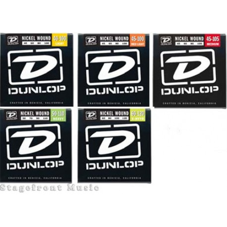 DUNLOP 4 STRING ELECTRIC BASS GUITAR SETS NICKEL WOUND SELECT GAUGE