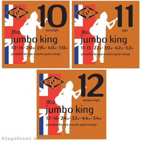 ROTOSOUND JUMBO KING PHOSPHOR BRONZE GUITAR STRINGS SELECT GAUGE