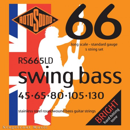 D'ADDARIO 5 STRING BASS GUITAR STRINGS LT TOP/MED BTM 45-135