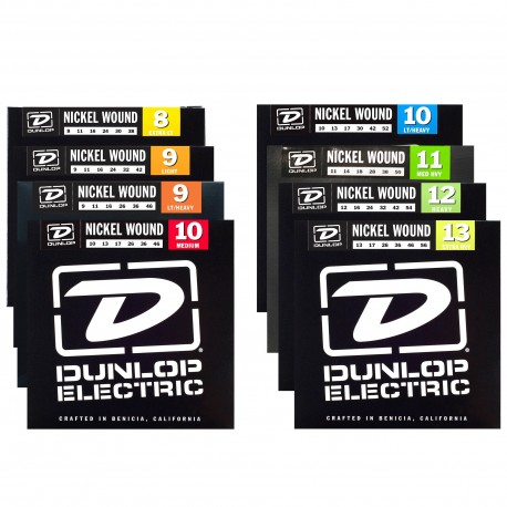 DUNLOP NICKEL WOUND ELECTRIC GUITAR STRINGS SELECT GAUGE