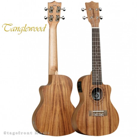 TANGLEWOOD TWT16E TIARE CONCERT UKULELE WITH PICKUP PACIFIC WALNUT