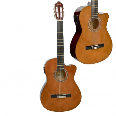 VALENCIA VC104CE FULL SIZE ACOUSTIC /ELECTRIC NYLON STRING GUITAR.
