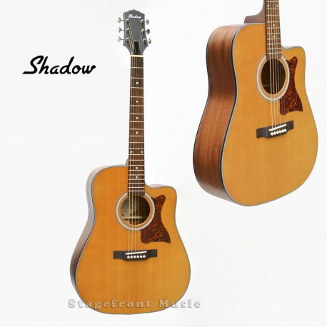 SHADOW JMS52CENS ALL SOLID DREADNOUGHT ELECTRIC/ ACOUSTIC GUITAR SOLID AFRICAN MAHOGANY