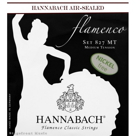 HANNABACH CLASSICAL SET-FLAMENCO E827 BLACK MEDIUM TENSION