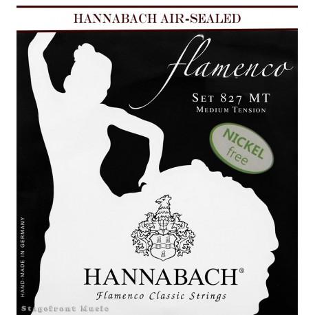 HANNABACH CLASSICAL SET-FLAMENCO E827 BLACK MEDIUM TENSION
