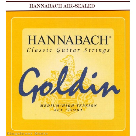 HANNABACH CLASSICAL SET-GOLDIN 725MHT. MEDIUM TO HIGH TENSION