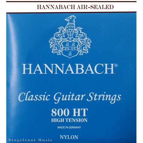 HANNABACH E800 HT CLASSICAL SET-SILVER PLATED. BLUE HIGH TENSION