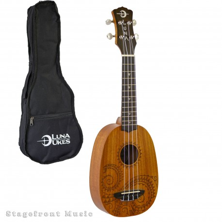 "LUNA'S 21"" TATTOO SOPRANO PINEAPPLE UKULELE"