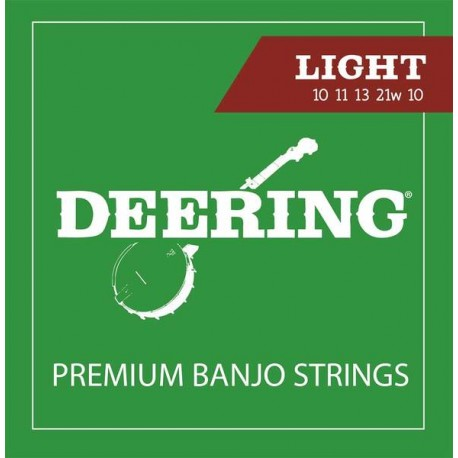 DEERING 5-STRING BANJO STRINGS - LIGHT GAUGE