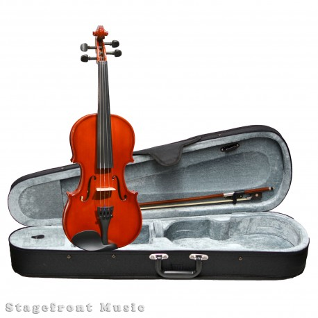 VALENTI VIOLIN SOLID SPRUCE TOP 1/2 SIZE VIOLIN OUTFIT WITH BOW & CASE - SV122